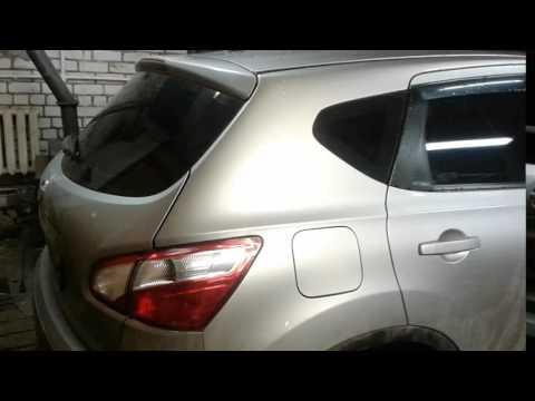 удаление вмятин на хлопушке Nissan Qashqai
