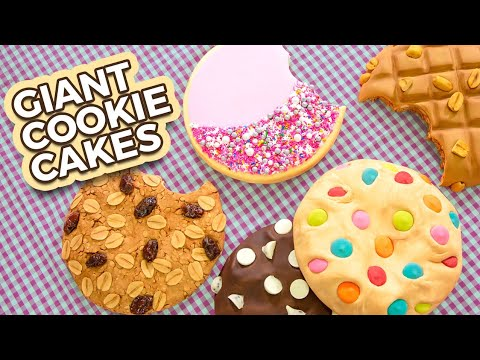 GIANT Cake Cookies!! | Super Sized Dessert | How To Cake It