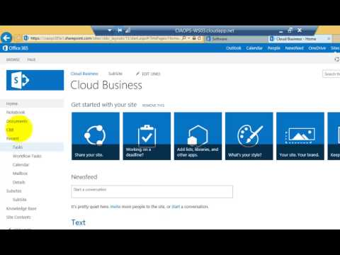 Getting Started with SharePoint Designer in Office 365 - YouTube