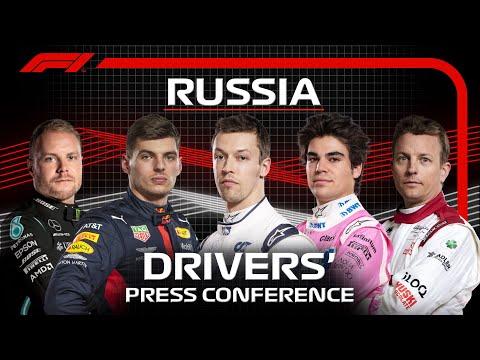 F1 ロシアGPレース直前のプレスカンファレンスのライブ配信動画