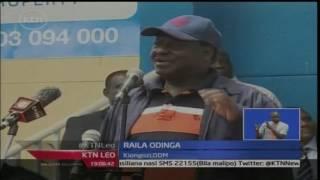KTN Leo: Raila Odinga anawashawishi Wakenya wajiandikishe kwa wingi kupiga kura