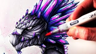 Lets Draw A GEMSTONE DRAGON - FANTASY ART FRIDAY