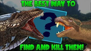 EASIEST WAY TO FIND AND KILL A PLAYER PURLOVIA/BASILISK - Ark Survival Evolved
