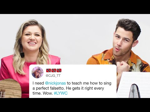 Kelly Clarkson and Nick Jonas Answer Singing Questions from