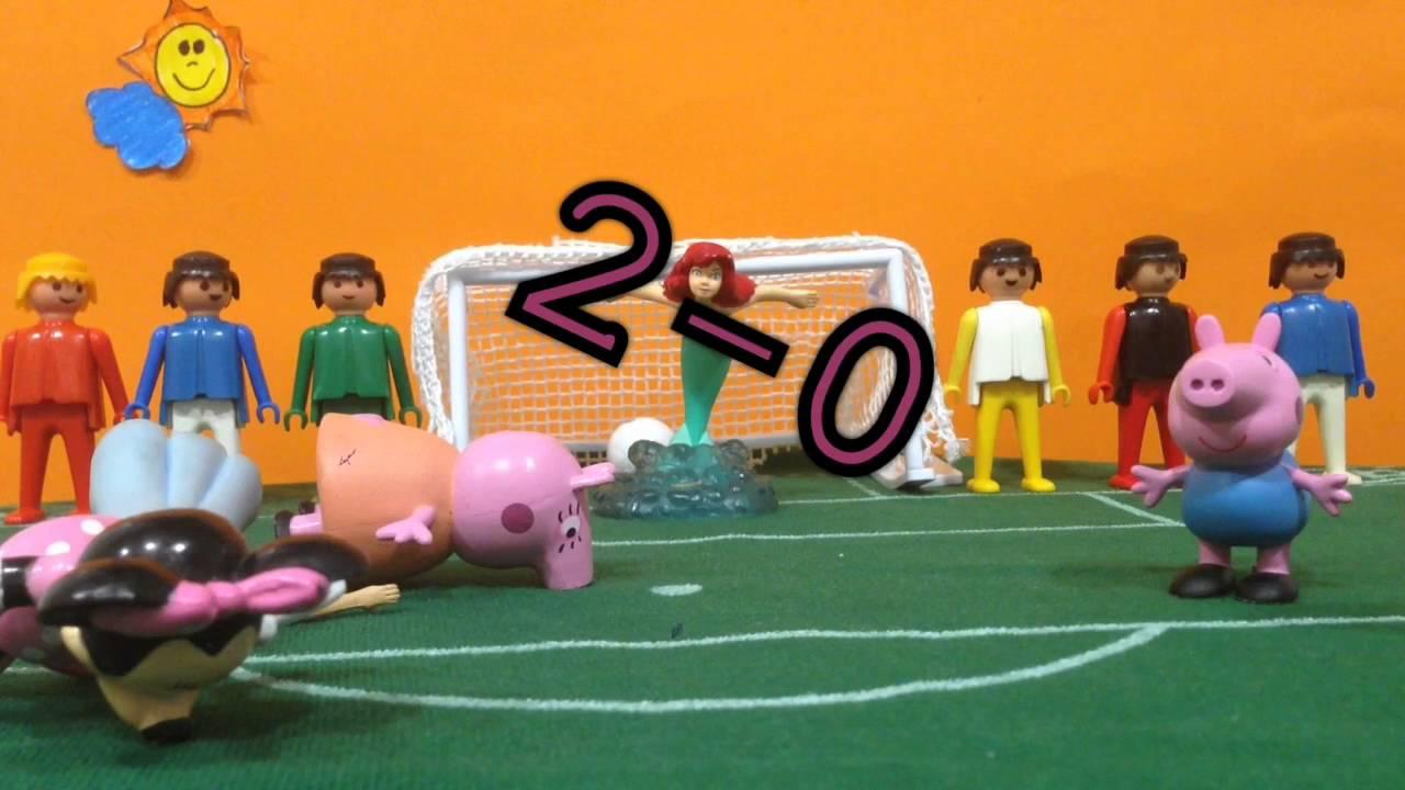 Penaltis entre Peppa Pig y su familia y DISNEY
