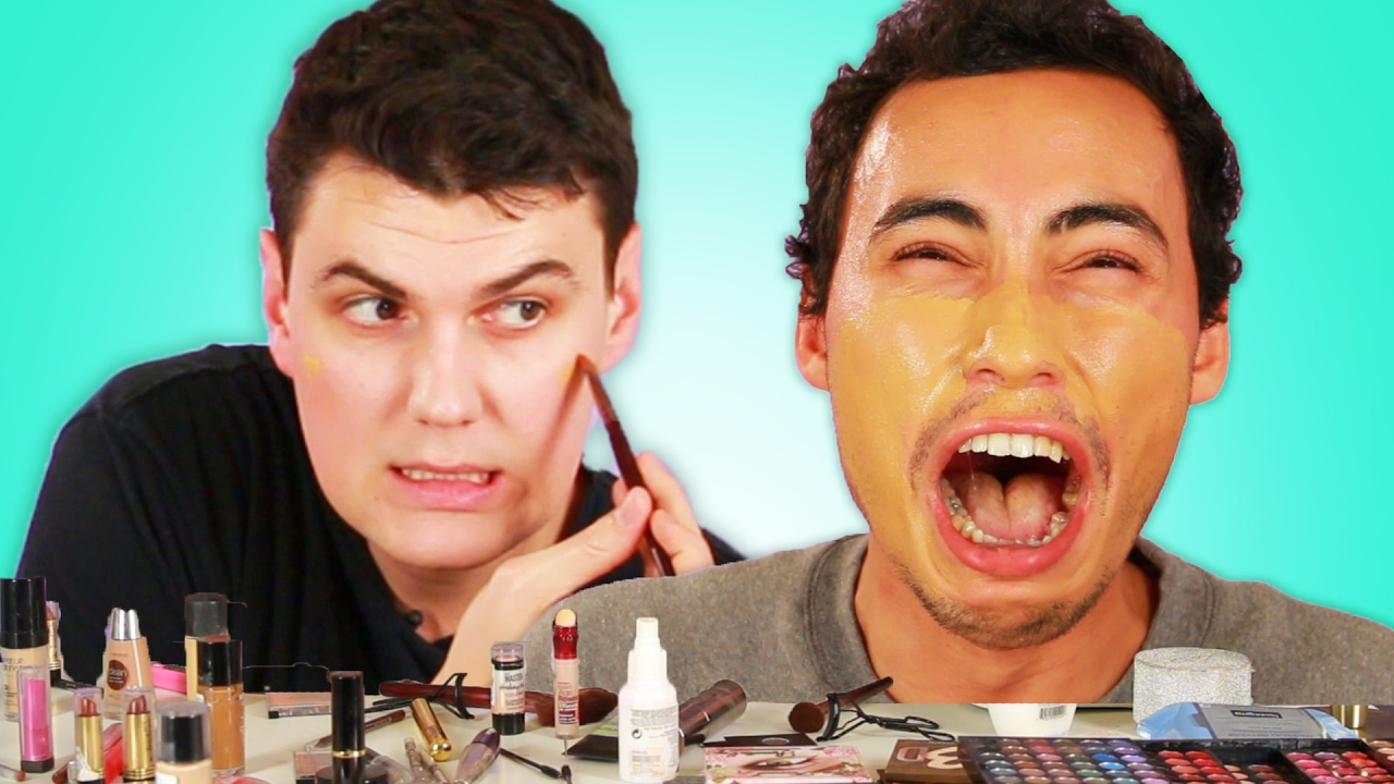 "Men Try The ""No Makeup"" Look thumbnail"