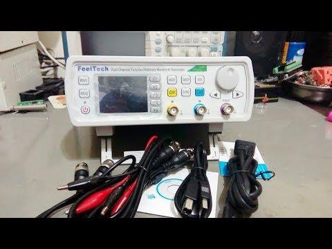 Gerador de funções arbitrárias Feeltech FY6600 (Review por dentro e por fora) - Banggood