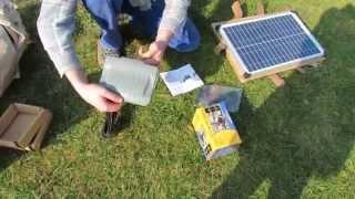 Solar - Teichpumpe  aufbauen / Build up solar pond pump / Фонтан на солнечной батарее (Video 1)