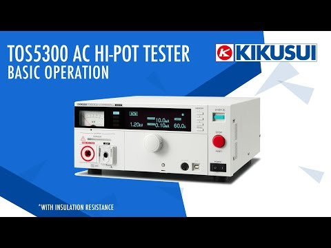 TOS5300 Basic Operation