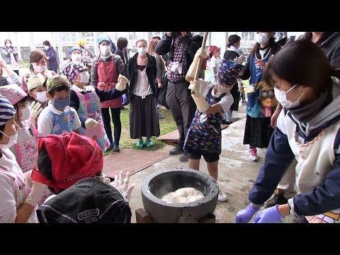 種子島の学校活動:国上小学校PTA親子もちつき大会2019年