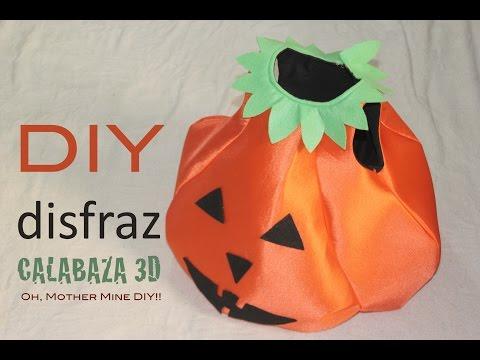 DIY Como hacer disfraz de calabaza 3D halloween (patrón gratis)