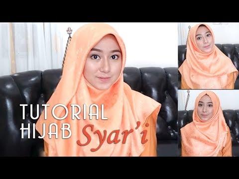 Tutorial Hijab Menutup Dada Segi Empat Hijabfest