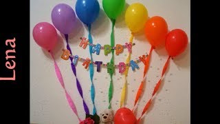 Luftballon Geburtstag Dekoration - Easy Birthday Rainbow Balloons Decoration