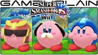 Smash Bros Wii U: All Kirby Hats & Transformations