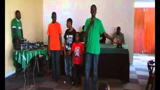 Mwenda doing a poem for Zambia's Independence – CAPE TOWN 2010