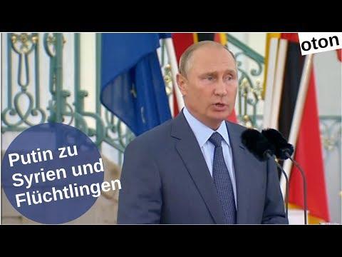 Putin zu Syrien und Flüchtlingen auf deutsch [Video]