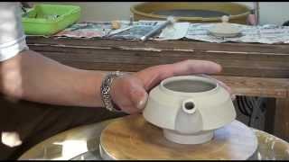 92. Throwing / Making A Flat Porcelain Teapot #3 With Hsin-Chuen Lin