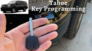 How To Program A Chevy Tahoe Key 2007 - 2014 DIY Chevrolet Transponder Ignition