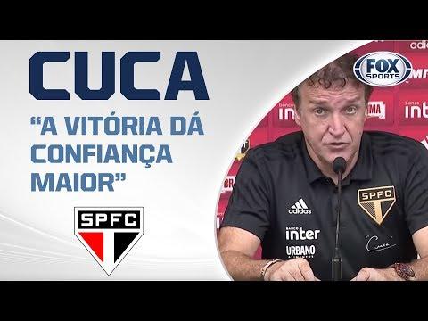 'MERECEMOS VENCER': Cuca elogia atuação do São Paulo diante do Botafogo