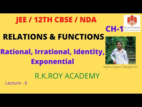 Rational and Irrational Functions