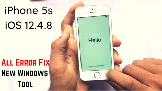 iPhone 5s iCloud Bypass iOS 12.4.8 [Windows] FREE