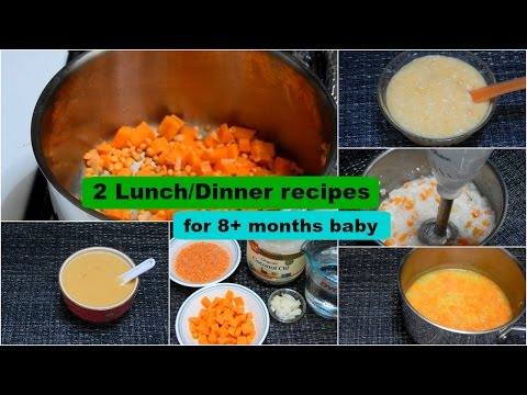 Video 2 Lunch/Dinner Recipes for 8+ months Baby l Healthy Baby Food Recipe l Stage 2 Homemade Baby Food