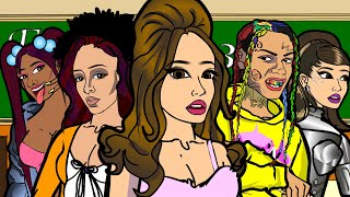Ariana Grande - 34 + 35 Remix ft. Doja Cat and Megan Thee Stallion (CARTOON PARODY)