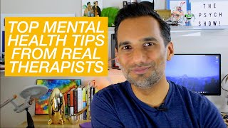 Mental health tips from 75 therapists