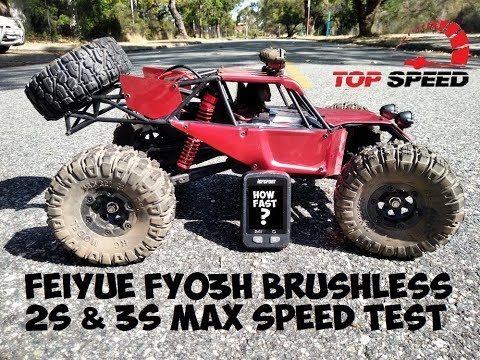 FEIYUE FY03H BRUSHLESS 2S & 3S MAX SPEED TESTS