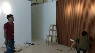 Video thi công tấm ốp tường 130*26mm