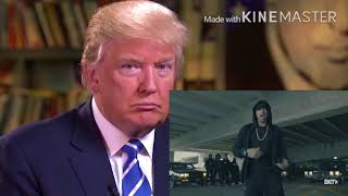 Donald Trump Responds To Eminem's Speech About Trump BET - Cypher ROASTED