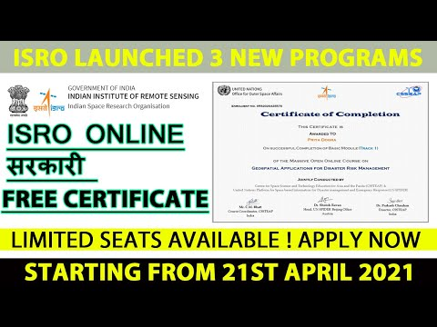 ISRO Launches 3 New Programs | Free Government Online ...