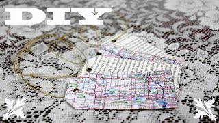 How To Make DIY Easy Gift Tags From Old Book And Old Maps | DIY Easy Gift Wrapping Ideas