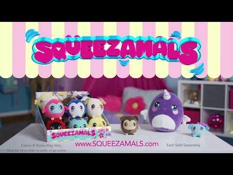 Мягкая игрушка Squeezamals Обаятельный нарвал