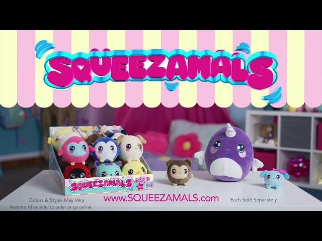 Ароматна М'яка Іграшка Squeezamals - Весела Мавпочка (20 См)