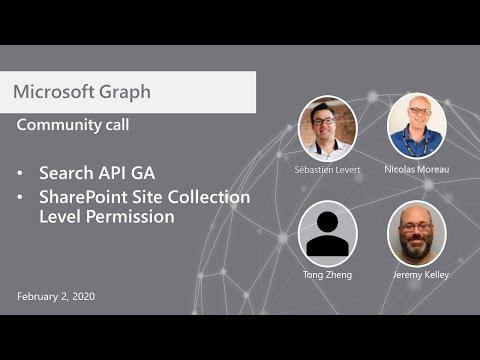 Microsoft Graph community call-February 2, 2021
