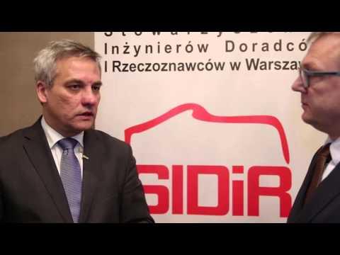 Konferencja SIDiR - Wywiad z Jerzym Szmitem, Wiceministrem Infrastruktury i Budownictwa