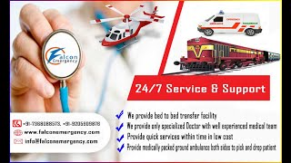 Train Ambulance from Patna to Delhi, Mumbai by Falcon Emergency