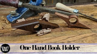 Making a Simple Christmas Gift One Hand Book Holder.