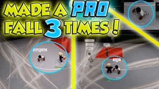 BREAKING A PRO 3 TIMES! DROPPED OFF 2 TRASH TALKING PROS! RB WORLD 2 (ROBLOX)