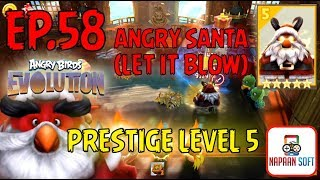 ANGRY BIRDS EVOLUTION - PRESTIGE LEVEL 5 - ANGRY SANTA(LET IT BLOW) - 5 STARS PREMIUM EGG(RED)