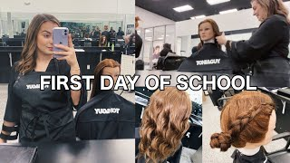 FIRST DAY OF COSMETOLOGY SCHOOL| Toni & Guy Hairdressing Academy