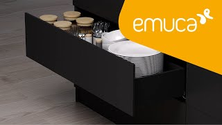 Discover the Vertex drawer with push rails to equip your furniture