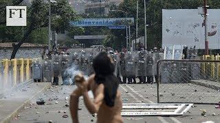 Choques mortales en Venezuela mientras Maduro bloquea la ayuda.