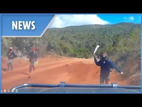 US couple narrowly escape a gang of machete-wielding bandits on Kenya backroad
