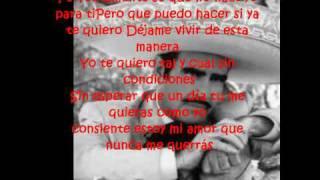 La diferencia - Vicente Fernandez (letra)