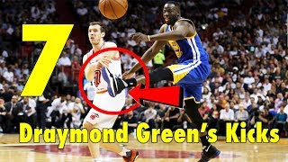 7 Draymond Green's FLYING KICKS!