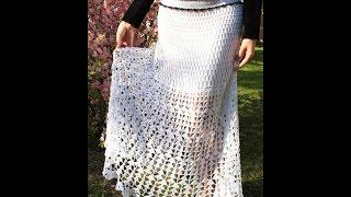 Белая ажурная юбочка в пол. Создаём красоту - Handmade by Irina Akman