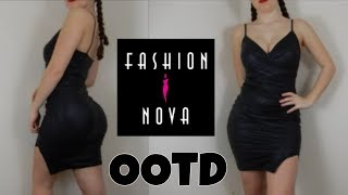 Leather Dress OOTD/Review - Ft Fashionnova