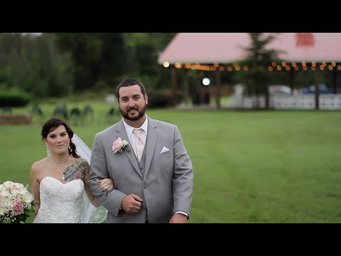"Jessica + Ryan ""What Are You Listening To?"" by Chris Stapleton wedding videography at Cousiac Manor"